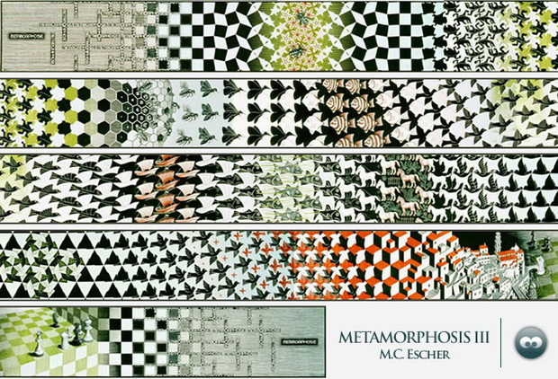 Metamorphosis III 变形 III Escher 埃舍尔